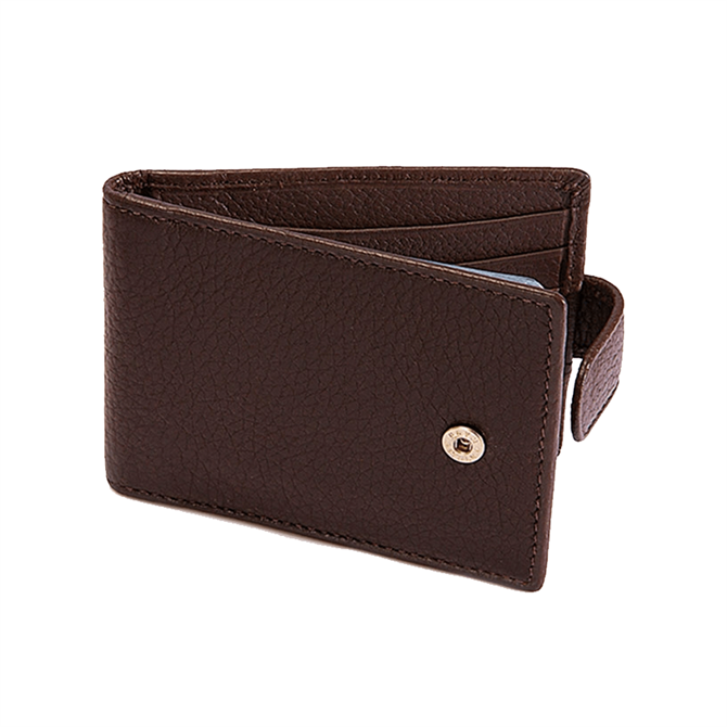 Dents Pebble Grain Leather Credit Card Holder with RFID Blocking Protection